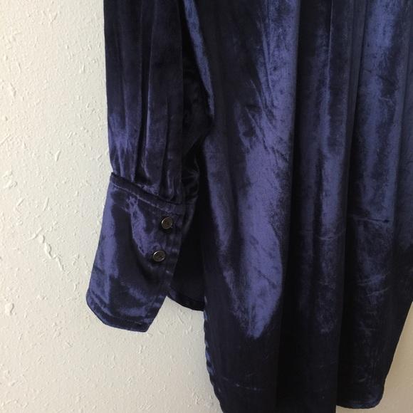 Vintage Maeve Noldor Elf Velvet Navy Tunic Shirt